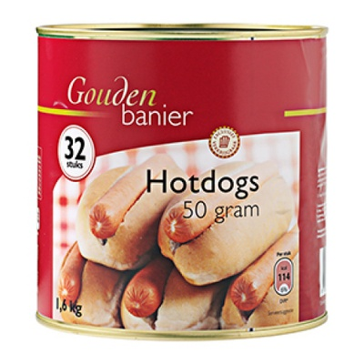 HOTDOGS IN BLIK         50gr
