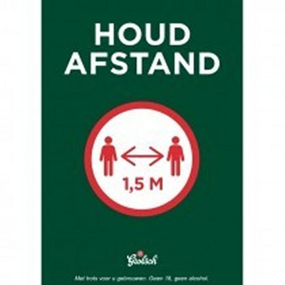 POSTER HOUD AFSTAND A2    3x